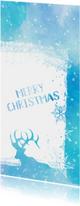 Kerstkaarten - Kerstkaart Merry Christmas aquarel