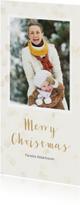 Kerstkaarten -  Kerstkaart met enkele foto langwerpig - BK