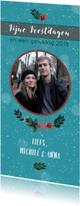 Kerstkaarten - Kerstkaart met foto en winterkrans