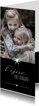 Kerstkaarten - Kerstkaart modern foto ster-IP