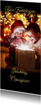 Kerstkaarten - Kerstkaart prachtig zwart met eigen foto's