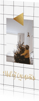 Kerstkaarten - Kerstkaart ruit label