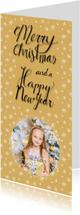 Kerstkaarten - Kerstkaart sterretjes fotokaart