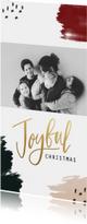 Kerstkaarten - Kerstkaart verf Joyful christmas