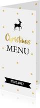 Menukaarten - Kerstmenukaart langwerpig sterren goud banner
