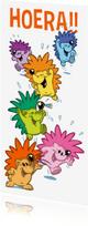 Kinderfeestjes - Kinderfeestje de vrolijke egels prikkers uitnodiging