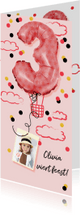 Kinderfeestjes - Kinderfeestje verjaardagsfeest meisje 3 jaar luchtballon