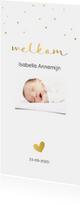 Geboortekaartjes - Klassiek geboortekaartje goud