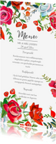 Menukaarten - Menukaart rozen tuin