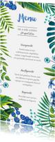 Menukaarten - Menukaart Tropisch Zomer