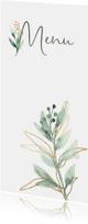 Menukaart watercolor leaf