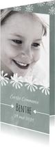 Communiekaarten - Moderne, lieve communiekaart voor een meisje met foto