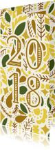 Nieuwjaarskaarten - Nieuwjaarskaart '2018' dubbel met illustraties licht