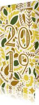Nieuwjaarskaarten - Nieuwjaarskaart '2019' dubbel met illustraties licht