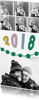 Nieuwjaarskaarten - Nieuwjaarskaart fotocollage met jaartal