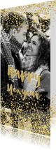 Nieuwjaarskaarten - Nieuwjaarskaart glitter en glamour