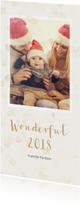 Nieuwjaarskaarten - Nieuwjaarskaart met enkele foto langwerpig - BK