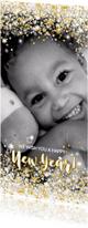 Nieuwjaarskaarten - Nieuwjaarskaart stijlvol foto kaart sterren en twinkelingen