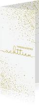 Nieuwjaarskaarten - Nieuwjaarskaart 'tweeduizendachttien' met glittereffect wit