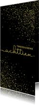 Nieuwjaarskaarten - Nieuwjaarskaart 'tweeduizendachttien' met glittereffect