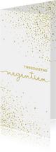 Nieuwjaarskaarten - Nieuwjaarskaart 'tweeduizendnegentien' met glittereffect wit