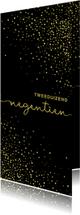 Nieuwjaarskaarten - Nieuwjaarskaart 'tweeduizendnegentien' met glittereffect