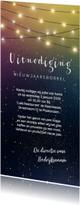 Nieuwjaarskaarten - Nieuwjaarskaart uitnodiging bedrijfsborrel