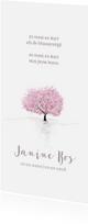 Rouwkaarten - Rouw bedankt bloesemboom