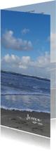 Rouwkaarten - Rouwkaart Noordzeestrand