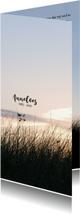 Rouwkaarten - Rouwkaart silhouet helmgras