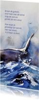 Rouwkaarten - Rouwkaart Vier het leven met beeld van meeuw
