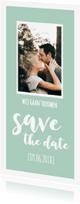 Trouwkaarten - Save the date - lang