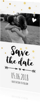 Trouwkaarten - Save the date - langwerpig