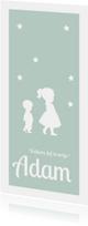 Geboortekaartjes - Silhouet geboortekaartje broertje