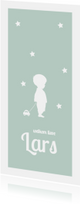 Geboortekaartjes - silhouet kaartje jongen