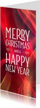 Zakelijke kerstkaarten - Stijlvolle zakelijke kerstkaart Sparkling red