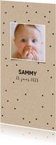 Geboortekaartjes - Stoer geboortekaartje voor jongen of meisje met foto