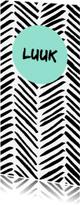 Geboortekaartjes - Stoer zwartwit geboortekaartje strepen