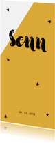 Geboortekaartjes - Strak geboortekaartje met lijnen