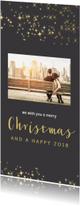 Kerstkaarten - Trendy kerstkaart met foto