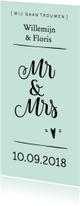 Trouwkaarten - Trouwkaart mr&mrs modern