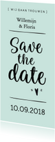 Trouwkaarten - Trouwkaart save the date modern