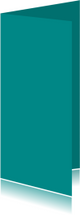 Turquoise dubbel langwerpig