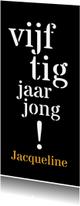 Uitnodigingen - Uitnodiging 50 typografisch lang