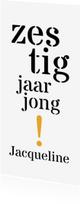 Uitnodigingen - Uitnodiging 60 typografisch lang