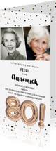Uitnodigingen - Uitnodiging 80 jaar feest foto uitnodiging ballonnen