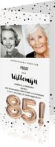 Uitnodigingen - Uitnodiging 85 jaar feest foto uitnodiging ballonnen