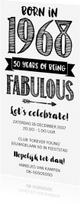 Uitnodigingen - Uitnodiging born in 1968 50 years of being fabulous