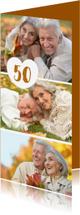 Jubileumkaarten - Uitnodiging collage langwerpig - OT