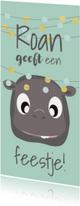 Kinderfeestjes - Uitnodiging grappig met confetti mocards